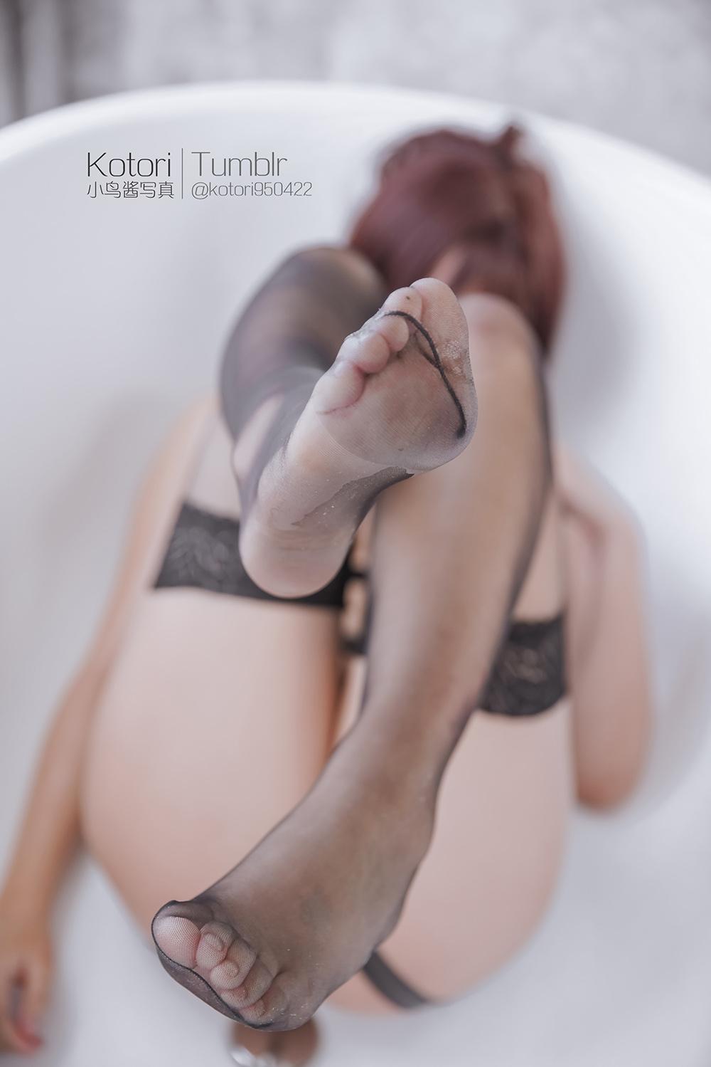 dLxlcC - Cosplay girl PR社 福利姬 小鸟酱系列–黑色束缚衣
