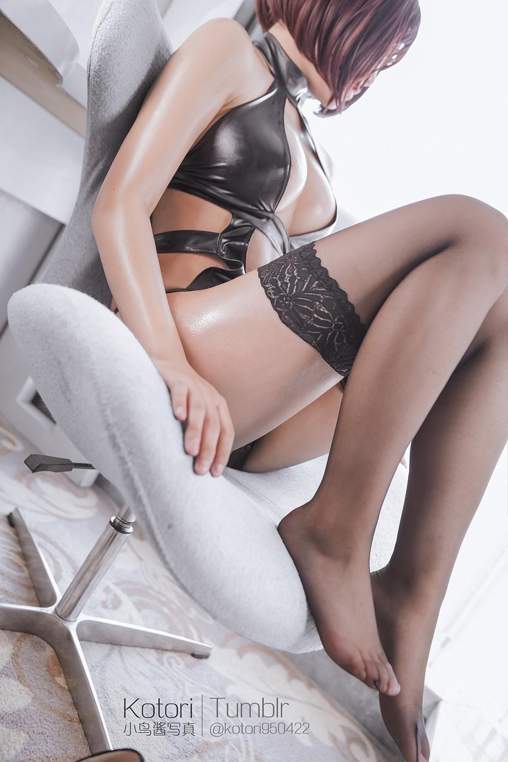 n7KZck - Cosplay girl PR社 福利姬 小鸟酱系列–黑色束缚衣