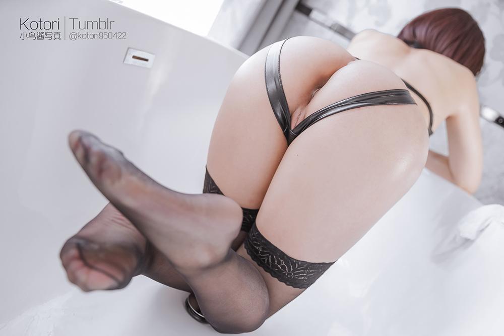 yu9TVw - Cosplay girl PR社 福利姬 小鸟酱系列–黑色束缚衣
