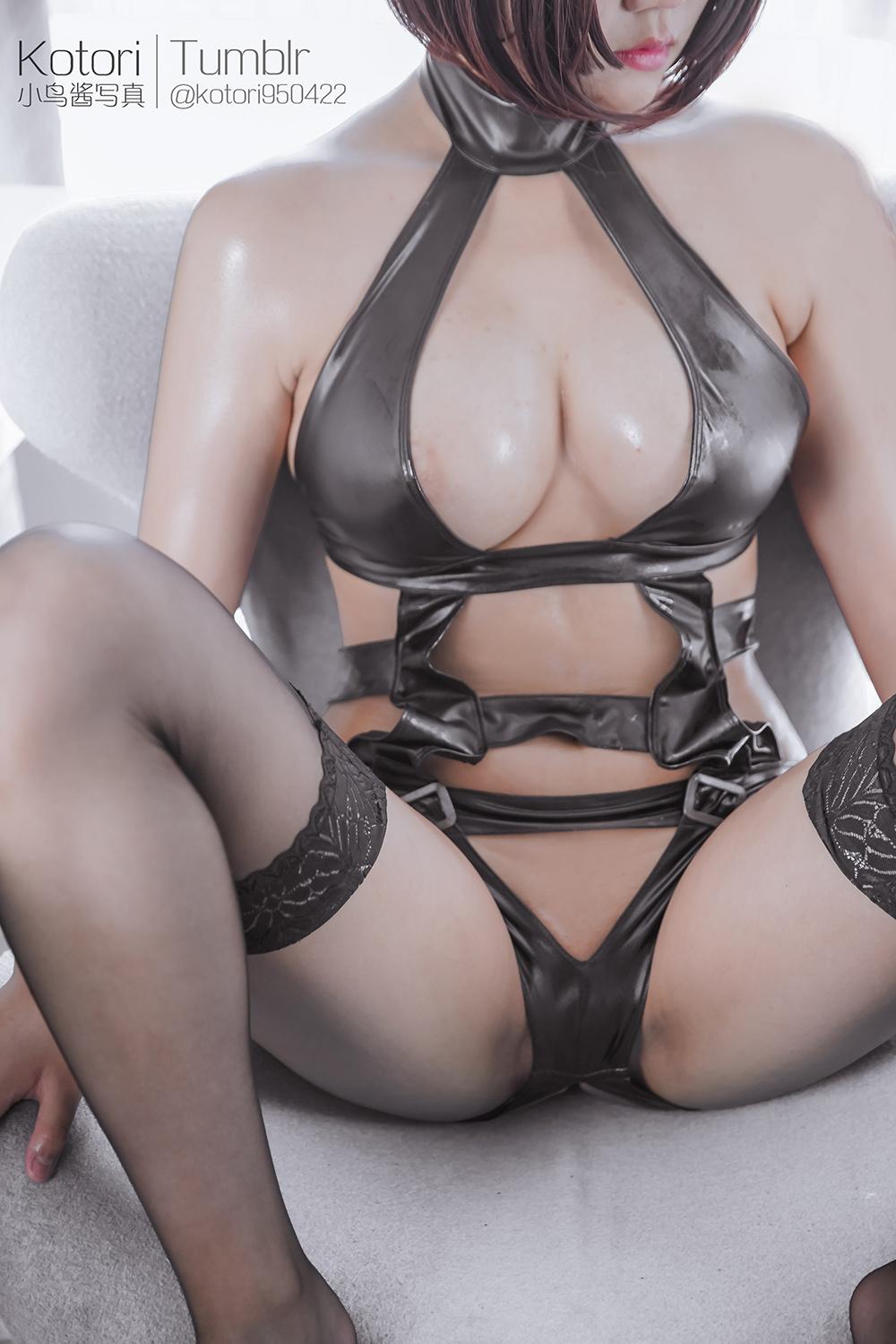 zkcG3V - Cosplay girl PR社 福利姬 小鸟酱系列–黑色束缚衣