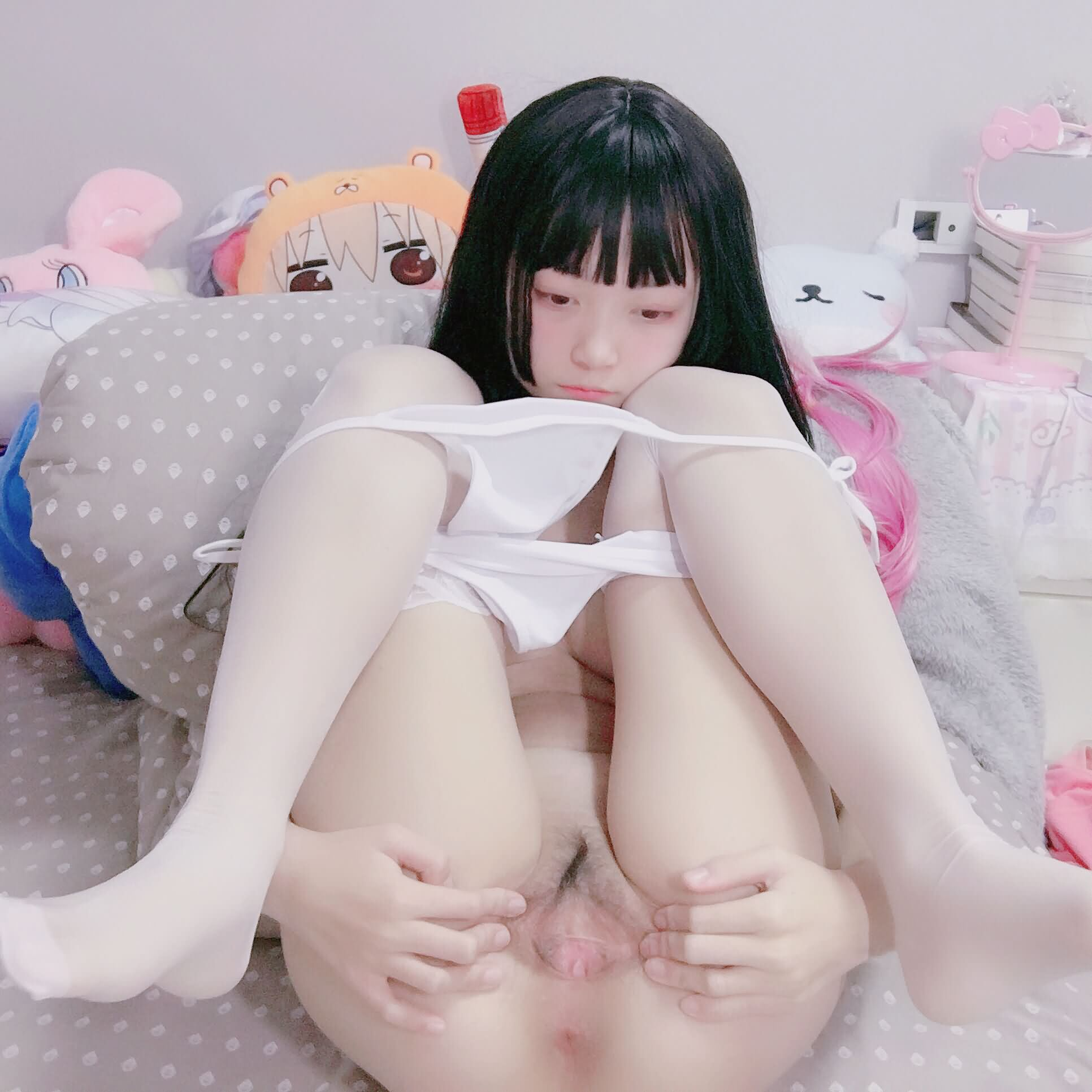 Jq4ziR - Preview预览 Cute girl PR社 露脸福利姬小奈奈 黑丝兔女郎 46P