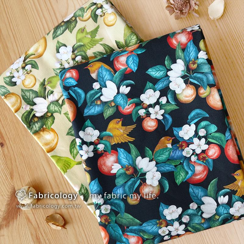 布學盒裝印花布(1y)野梨子 手工藝DIY布料 SW001909-1