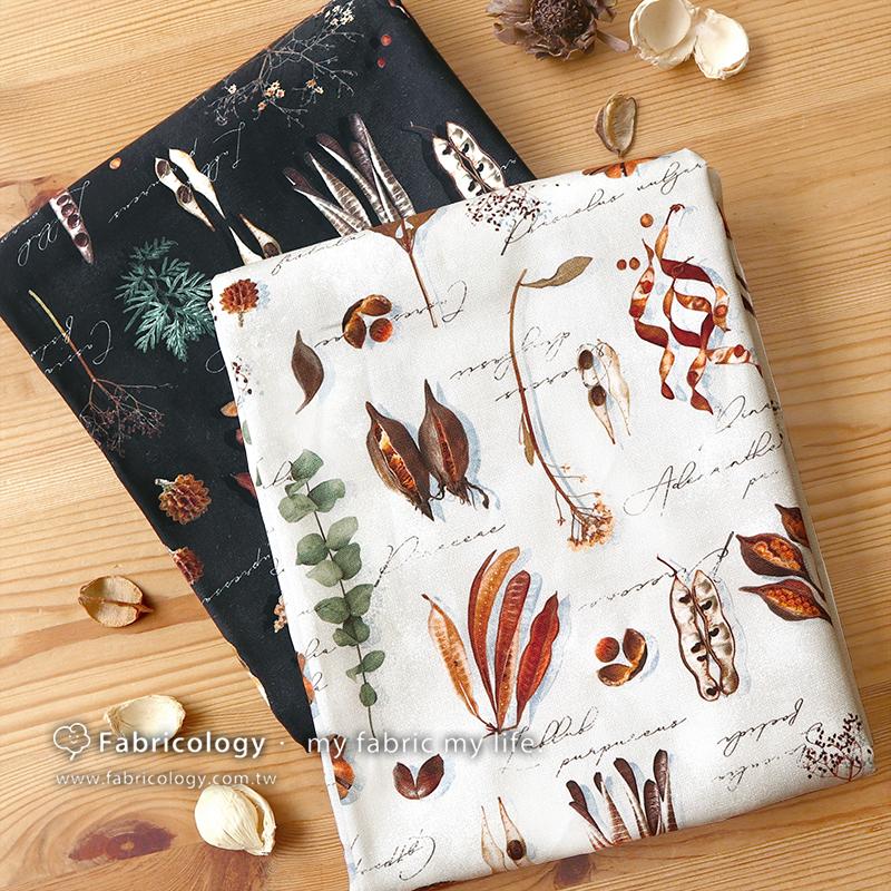 布學盒裝印花布(1y)植物學家 手工藝DIY布料 SW001909-2