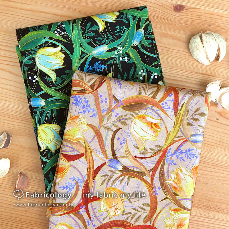 布學盒裝印花布(1y)金色的祝福 手工藝DIY布料 SW001909-5