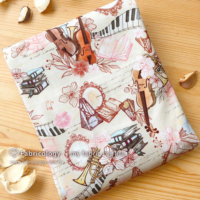 布學盒裝印花布(1y)樂禮 手工藝DIY布料 SW001909-10