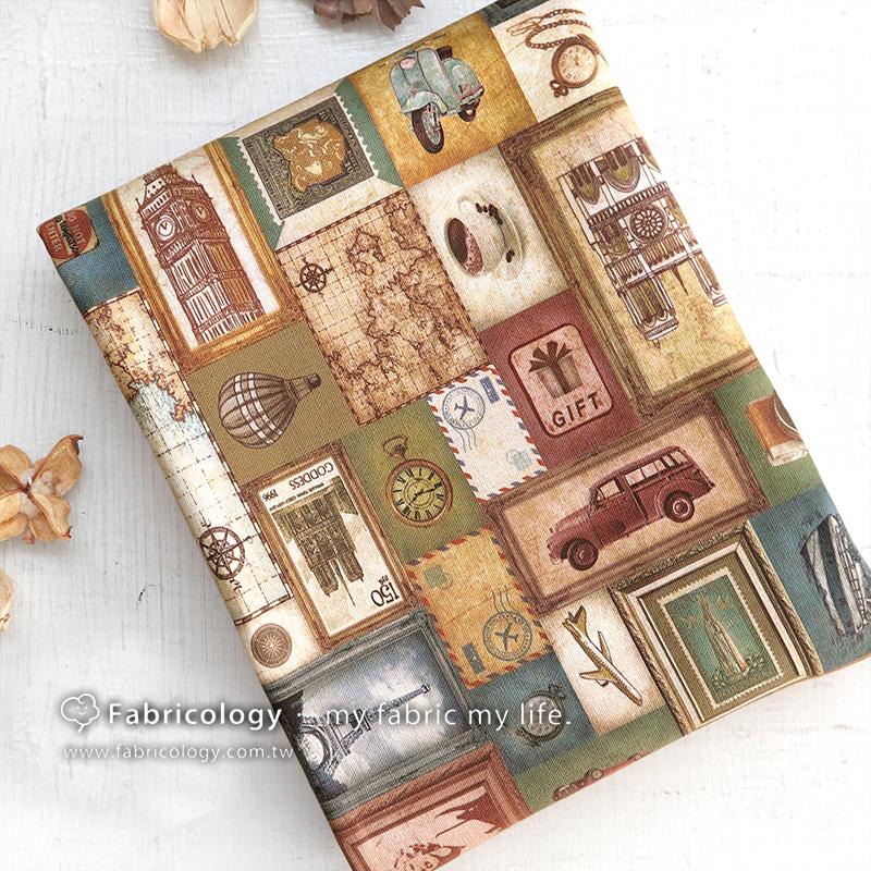 布學盒裝印花布(1y)回憶框 手工藝DIY布料 SW001909-8