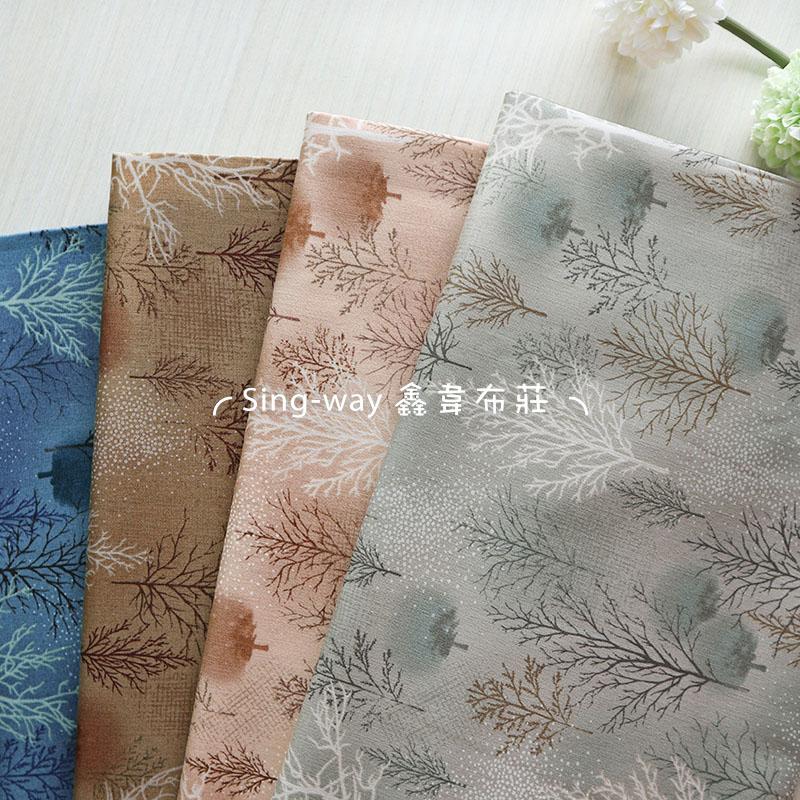 迷霧森林(大特價) 枯樹 下雪 冬季 手工藝DIY布料 CA450832