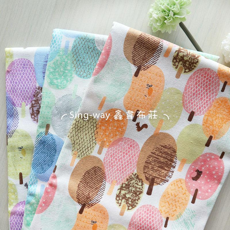 誠實樹 大樹 貓頭鷹 松鼠 手工藝DIY布料 CF550793