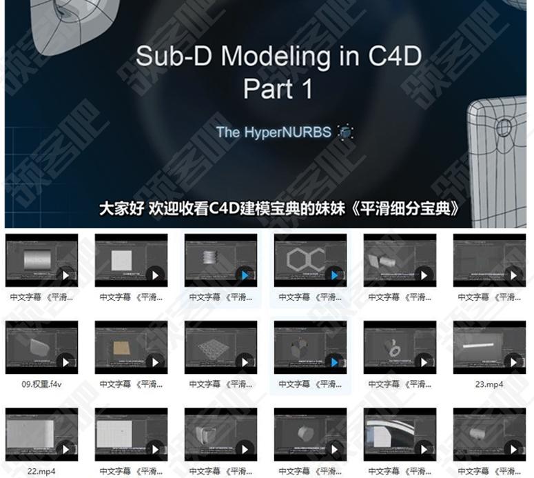 中文C4D建模实战《平滑细分宝典》 Sub-D Modeling