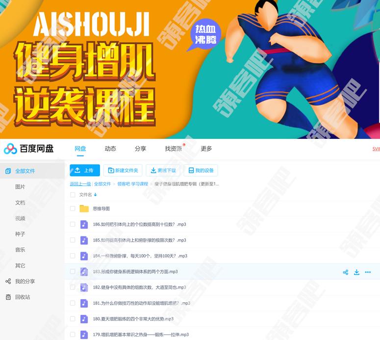 AISHOUJI健身增肌逆袭课程 科学健身计划定制方法