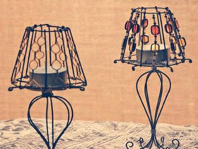怎么用金属丝做欧式灯型烛台的方法图解