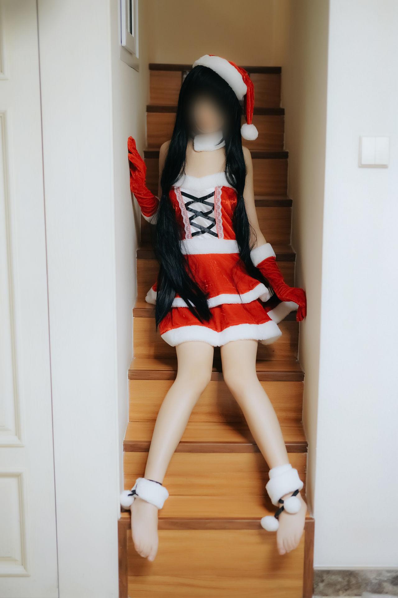 FZ40Xl - 【The Girl Theater】 少女映画 Cosplay Kurumi Tokisaki (Christmas Dress) 105P 預覽 Preview