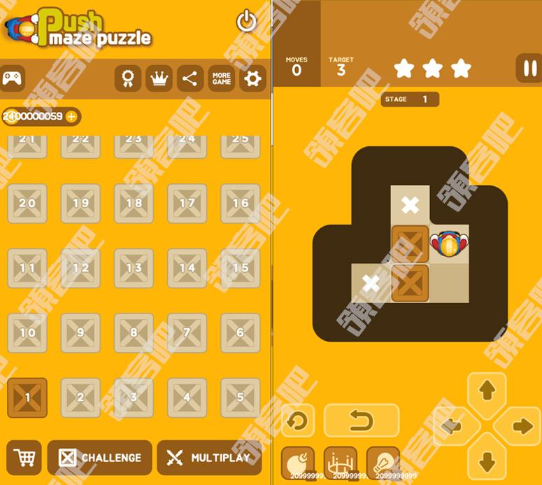 休闲游戏:Push Maze Puzzle v1.0.13推箱子无限金币版