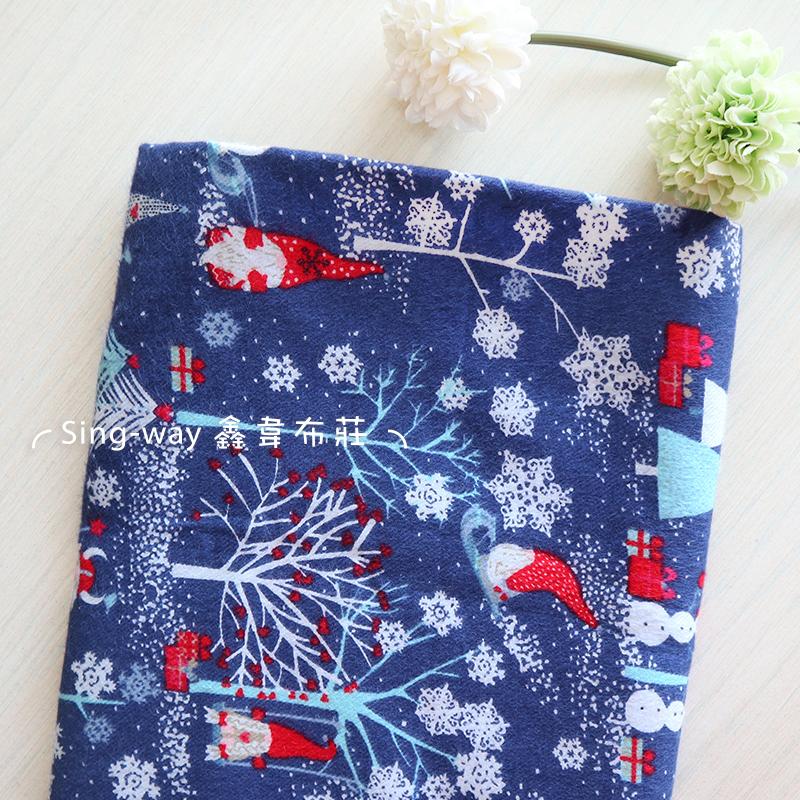 銀色聖誕 下雪 聖誕老人 雪花 禮物 雪橇 手工藝DIY不料 CA690250