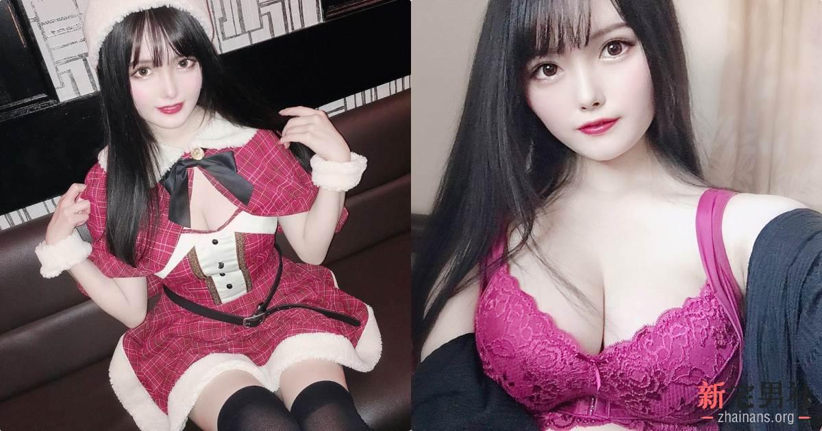 大奶日本妹圣诞装性感又可爱,用深深的事业线陪你过节!