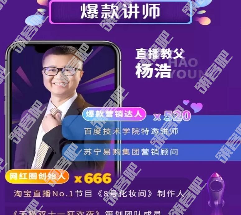 杨浩 直播卖货赚钱全攻略 适用于:淘宝/抖音/快手/微信