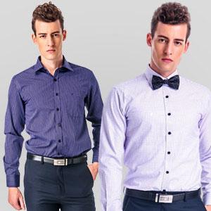 金安德森 黑色斜紋吸排長袖襯衫