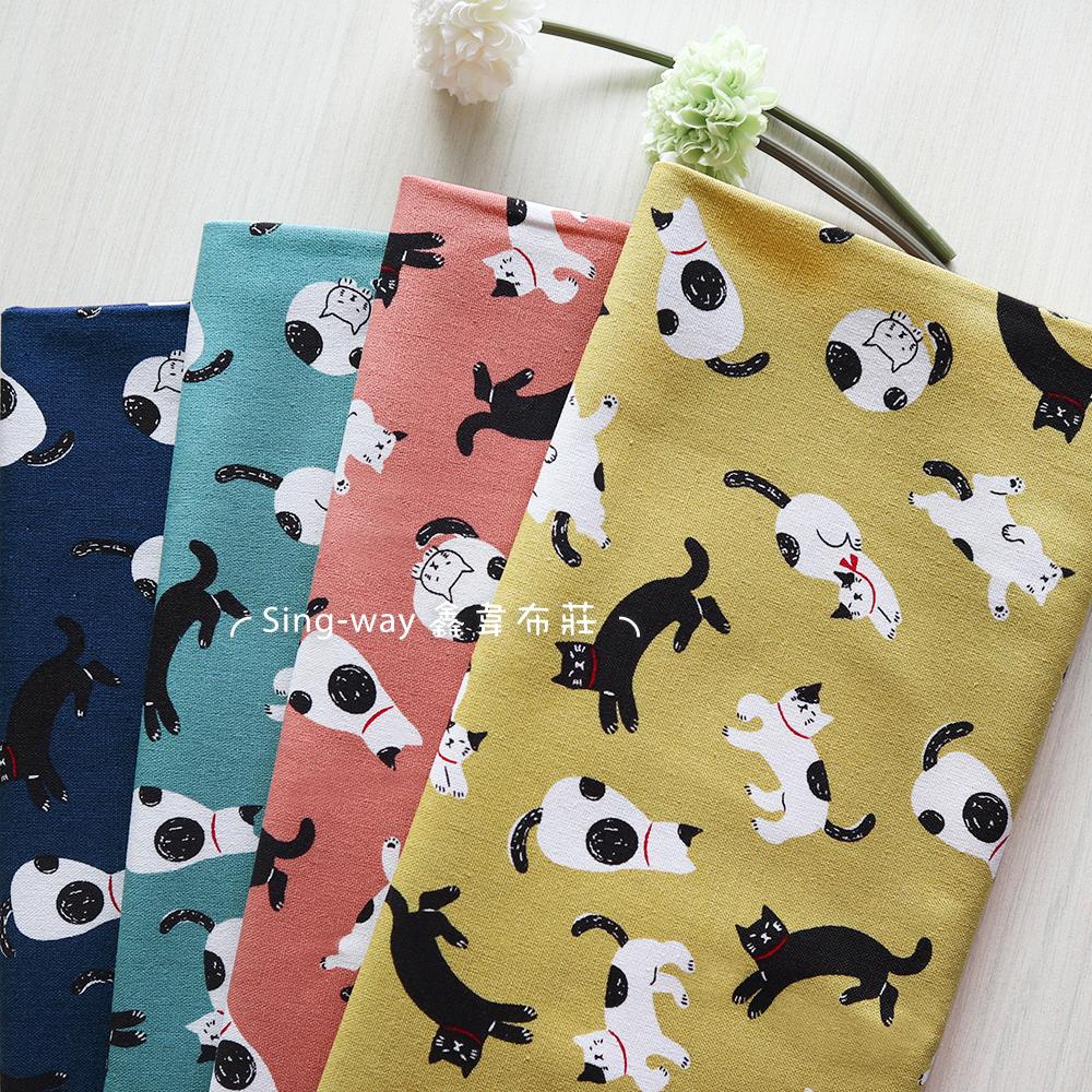運動貓咪 慵懶貓 貓奴 黑貓 手工藝DIY布料 CF550815