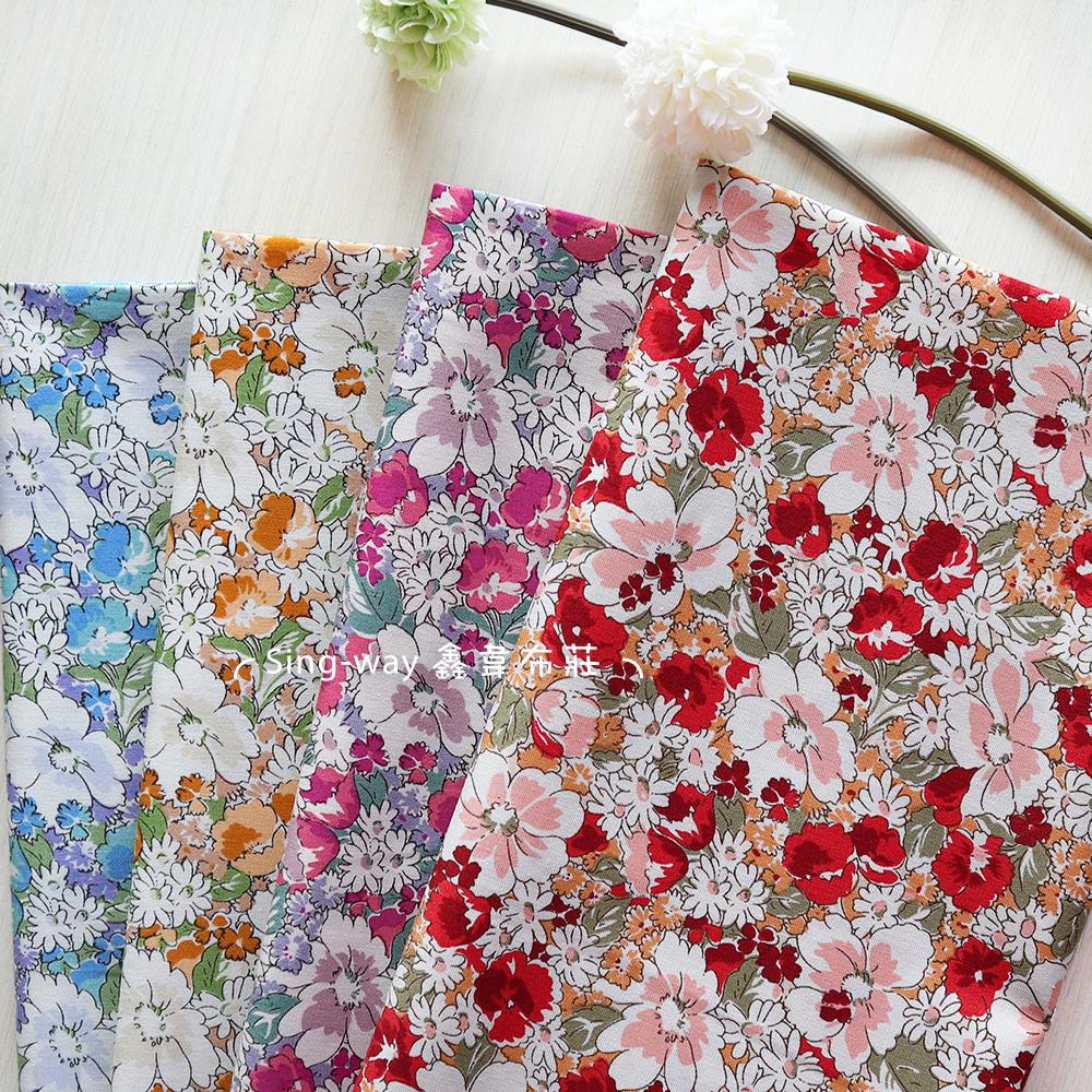 水彩花圃 碎花 花園 花草 繁花 手工藝DIY布料 CA450833