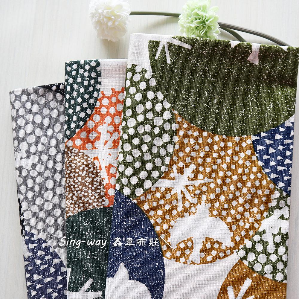 簡單樹叢 小鳥 大樹 圓圓樹 手工藝DIY布料 CF550825