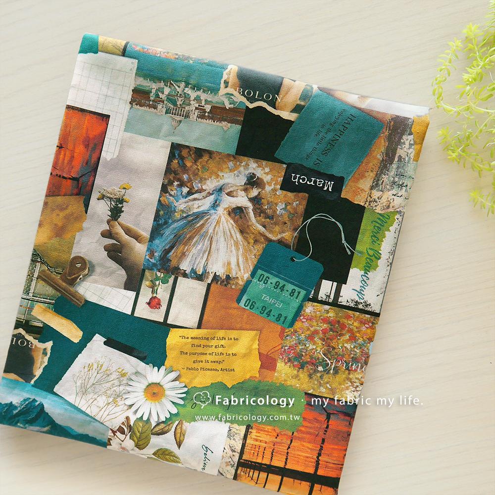 布學盒裝印花布(1y)手札時光 手工藝DIY布料 SW002003-8