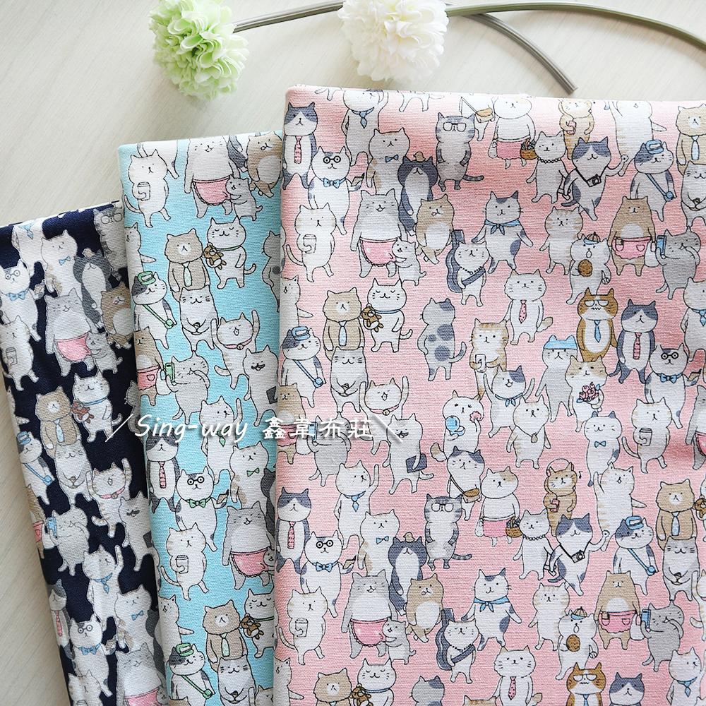 小貓咪社會 上班族 排排站 手工藝DIY布料 CF550843
