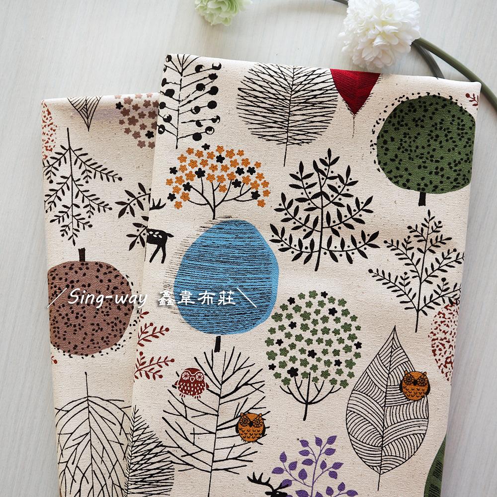 馴鹿森林 枯樹 叢林 樹木 手工藝DIY布料 CF550839