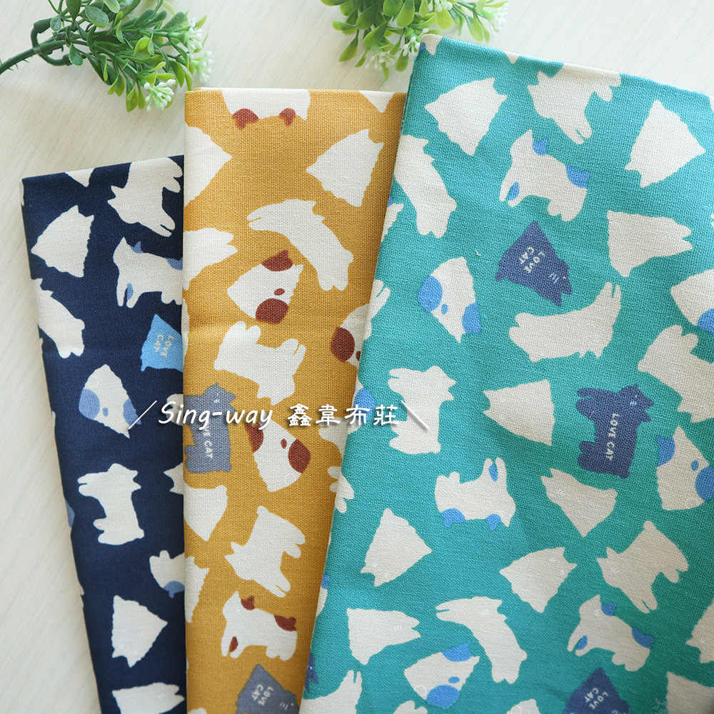 貓貓影子(大特價) CAT 貓背影 剪影 手工藝DIY布料 CF550867