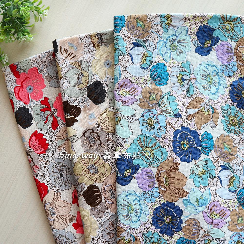 扶桑花群 花朵 植物 手工藝DIY布料 CF550851