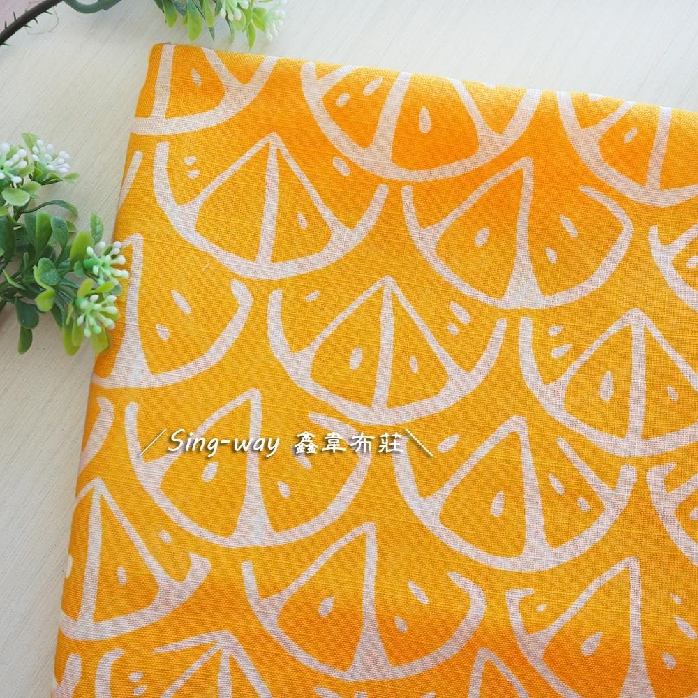 萊姆切片 花布 檸檬 香橙 CH690482