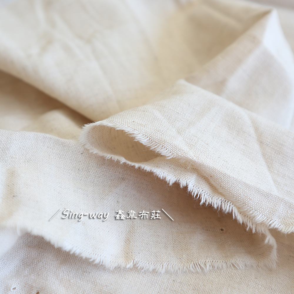 棉麻 有黑纖 素面 胚布 FA890045