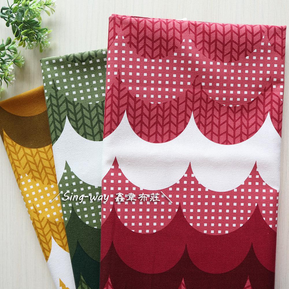 山形樹 波浪 幾何圖形 手工藝DIY布料 CF550857