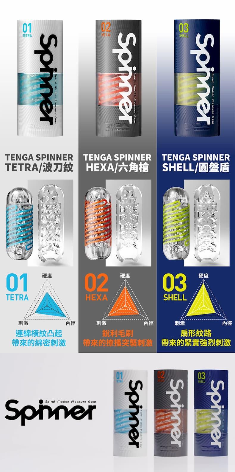 TENGA-SPINNER系列 HEXA 六角槍02 產品展示