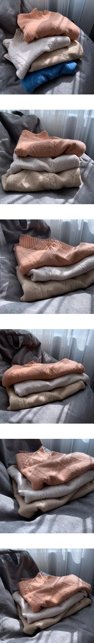 ♡ 右米衣飾 ♡【麻花慵懶風毛衣】大碼女裝 胖mm 棉花糖女孩 日系原創 大碼毛衣 軟糯溫暖 圓領純色毛衣長袖毛衣