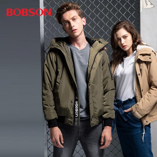 BOBSON 羽絨外套/發熱牛仔褲
