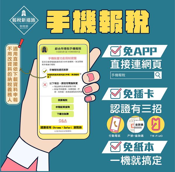 2021報稅新制:新增手機報稅及行動電話認證