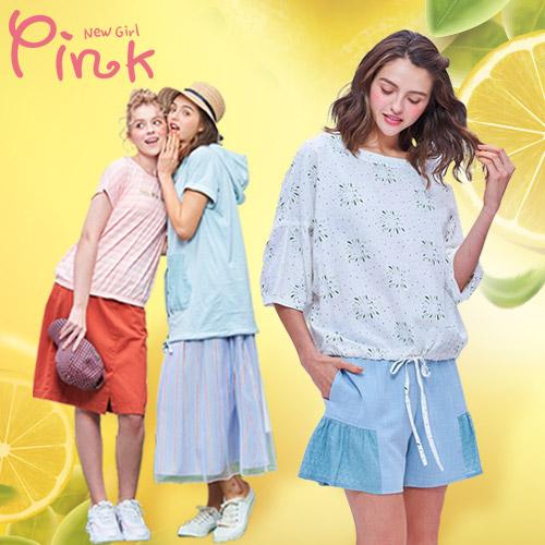 Pink* 流行少女洋裝/上衣/裙褲