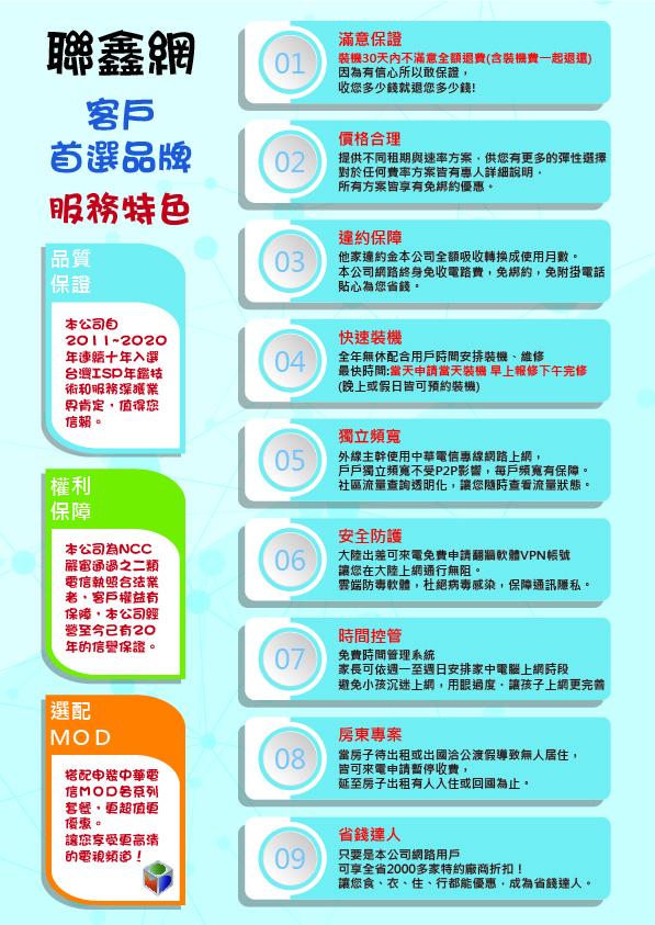 联鑫网12大特色