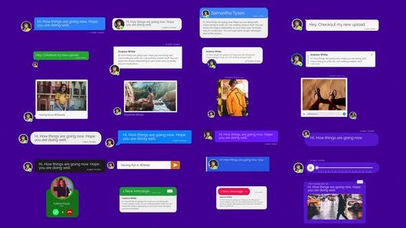 AE模板-短信社交聊天語音視頻彈窗 Message Toolkit V.2