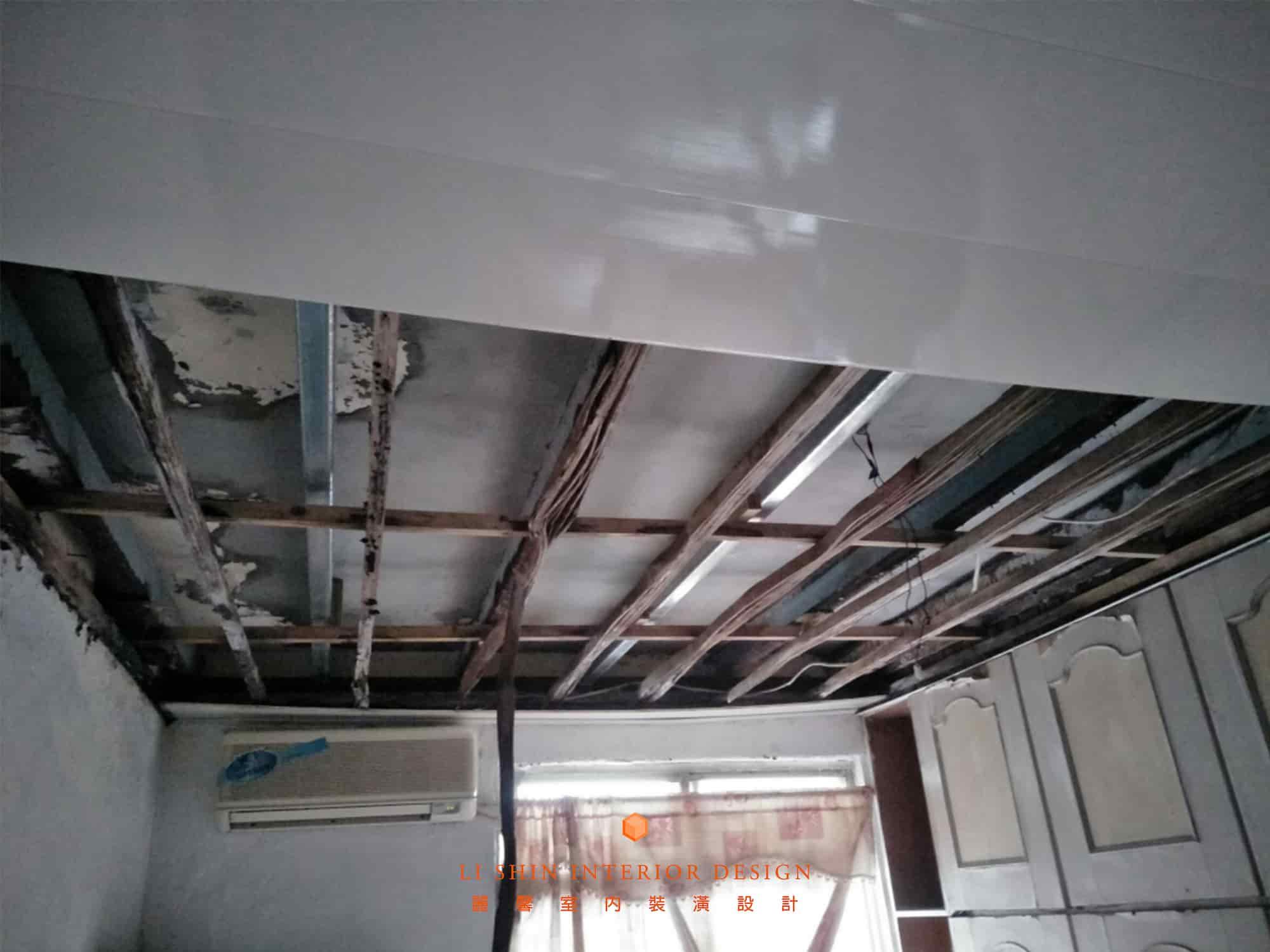 潮濕區域的木作天花板,建議使用防潮的塑膠角材