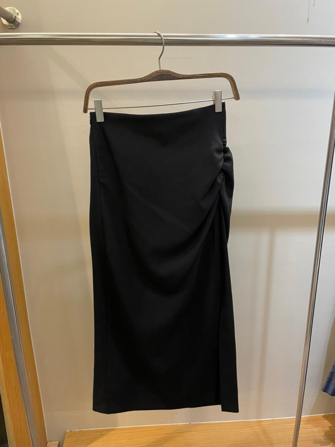 (N40)側抓皺長窄裙