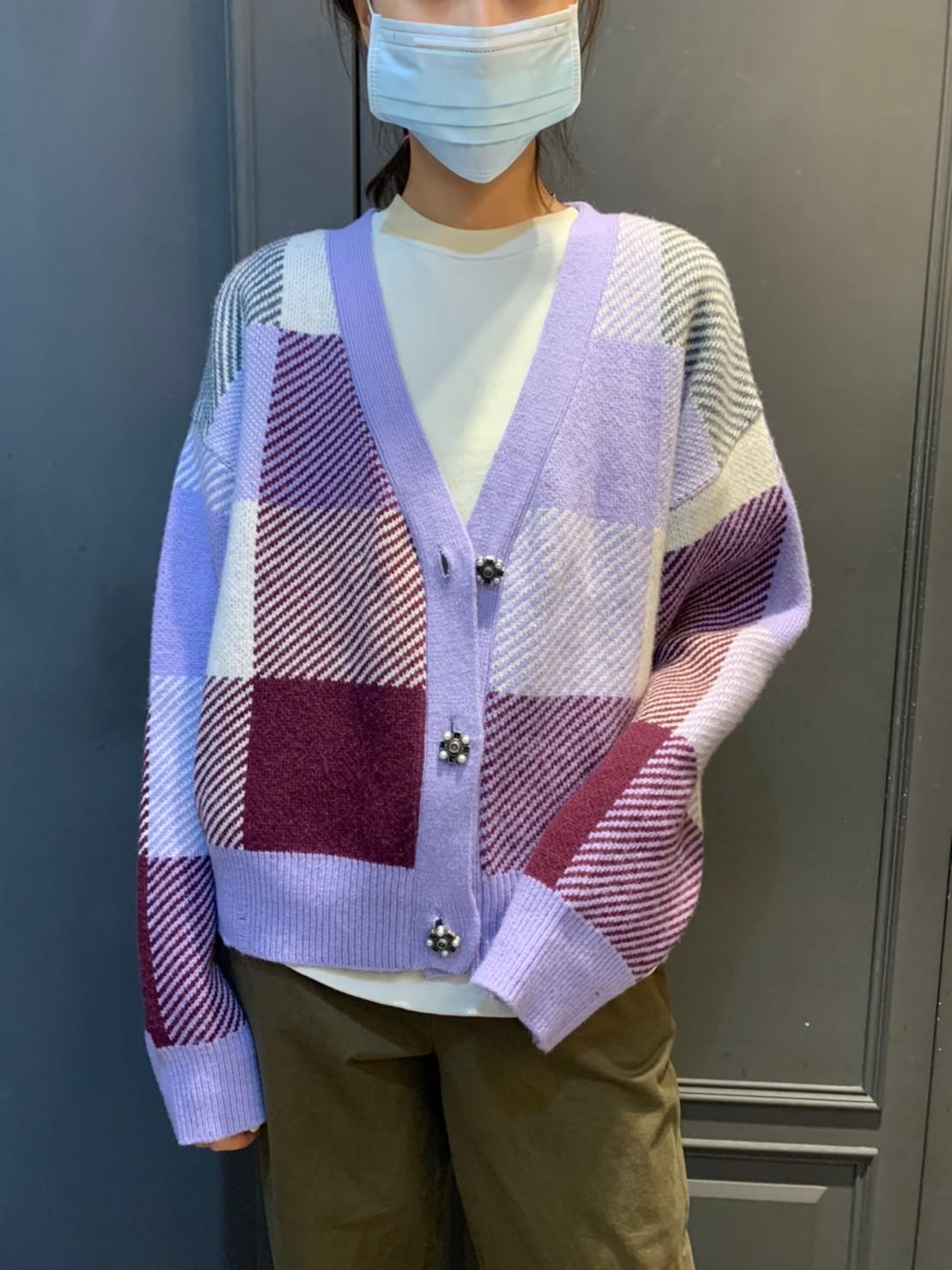 (N02)拼接花扣羊毛外套